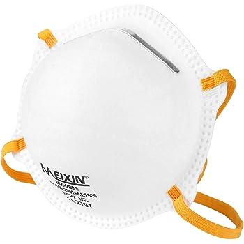 Meixin Atemschutzmaske FFP2 im 5er Set mit CE-Zertifikat – Hochwertige Atemmaske – Anpassbare Staubmaske – Feinstaubmaske, Staubschutzmaske