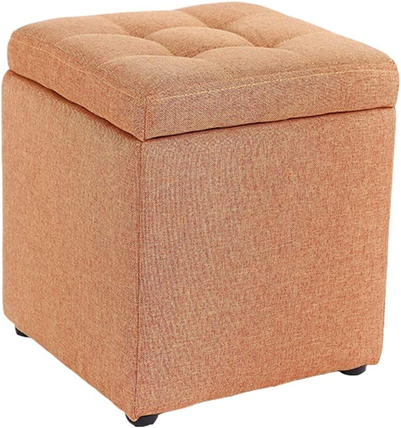 JiaJia- Storage Stool - Multi-Function Simple Fabric Storage Stool Multi-color Optional Non-Slip Storage Square Stool Footstool Sofa Stool Storage stools for Living Room (color   A)