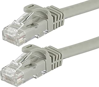 Monoprice Flexboot Cat5e Ethernet Patch Cable - Network Internet Cord - RJ45, Stranded, 350Mhz, UTP, Pure Bare Copper Wire...