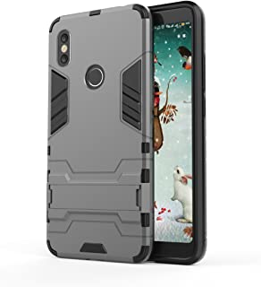Xiaomi Redmi S2 Case, Hybrid Armor Case [2 in 1] Lightweight Hard PC Cover + Flexible TPU Shock Absorption & Scratch Resistant with Kickstand for Xiaomi Redmi S2 (2018) 5.99 inches - Gray