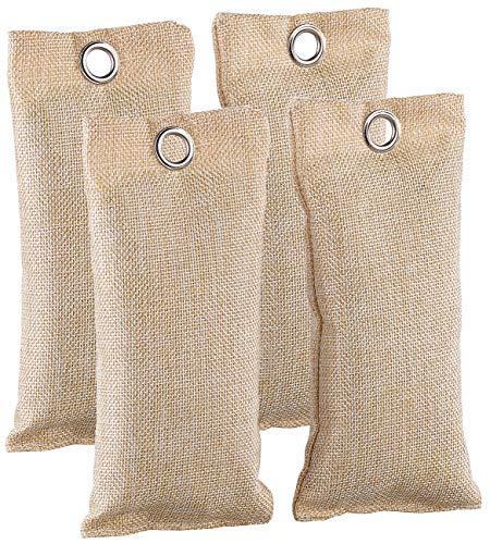 newgen medicals Fußgeruchschuh-Deos: 2in1-Schuh-Erfrischer mit Bambus-Aktivkohle, geruchsmildernd, 4x 75 g (Bambuskohlebeutel)