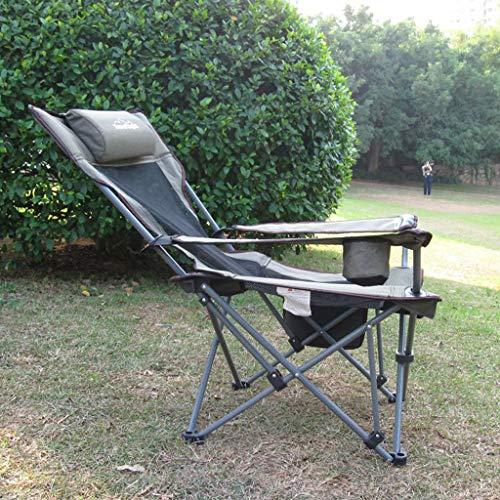 Mlimy Ajustables Dual al Aire Libre - Uso de Playa Plegable Descanso for Comer sillas de Pesca Ajustable sillas de Ocio sillas Plegables ( Color : Black )
