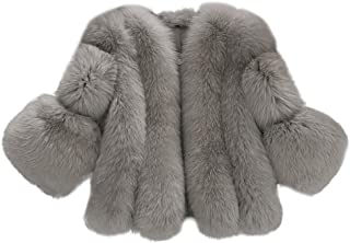 4a8388c9dec1 Corriee Womens Faux Fur Short Coat Clearance, Fashion Cropped Solid  Cardigan Jacket for Women Winter