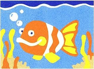 Sandtastik Preschool Craft Peel N Stick Sand Art Board #19 - Goldfish