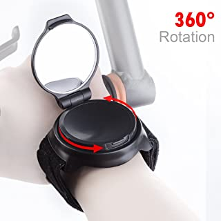 Bike Mirror,JOOKKI Rear View Bicycle Helmet Mirror,360 Degree Adjustable Wrist Mirror for Cycling