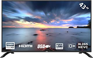 HKC 43F3 Televisor LED de 109 cm (43 Pulgadas) (Full HD, sintonizador Triple (DVB-C / -T2 / -S2), Ci +, HDMI, Reproductor ...
