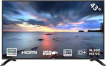 HKC 43F3 TV LED da 109 cm (43 pollici) (Full HD, Triple Tuner (DVB-C / -T2 / -S2), CI +, HDMI, lettore multimediale tramite USB 2.0)
