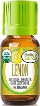 Organic Lemon Essential Oil (100% Pure - USDA Certified Organic) Best Therapeutic Grade Essential Oil - 10ml