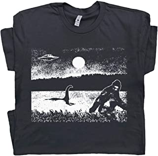Cryptozoology Bigfoot T Shirt Loch Ness Monster Tee UFO Graphic Nessie Sasquatch Alien Area 51 Jackalope Cryptid