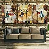 hvikov sin marco 3paneles pintado a mano bailarina de ballet abstracto moderno para...