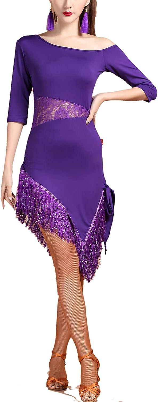 Latin Salsa Cha Tango Jive Dance Costumes Limited time Outstanding cheap sale Ballroom Routine D