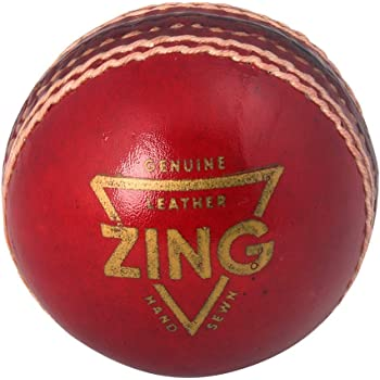 Tauro Zing Red Cricket Leather Ball (2 Panel)