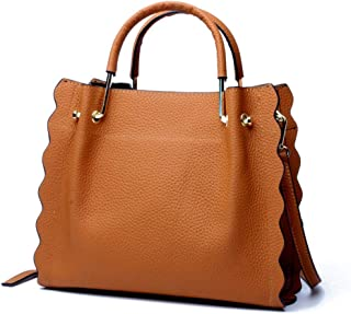 Runhuayou New Retro Occasional Fashion Bills Shoulder Slung Bombastic Capacity Women's Bag Leather Handbag Great for Casual or Many Other Occasions Such