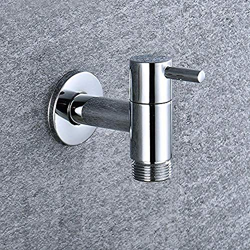 Yaoqingf Wasserhahn Wasserhahn Hochwertiger Extra Langer Wasserhahn Solidbrass Outdoor Garten-Waschmaschinen-Wasserhahn Standard G1 / 2 Mit Gewinde