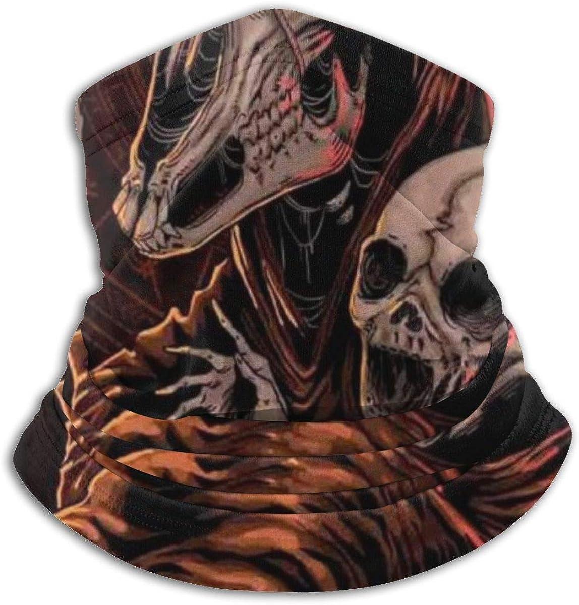 CLERO& Scarf Fleece Neck Warmer Baphomet Satanic Goat Head Baby Skull Windproof Outdoor Headwear Comfortable Neck Gaiter Warmer Face Mask for Cold Weather Winter Outdoor Sports