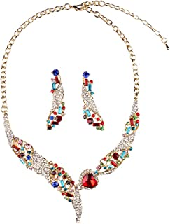 Hamer Bridal Jewelry Set for Wedding Luxury Statement Necklace and Earrings Jewelry Sets for Women