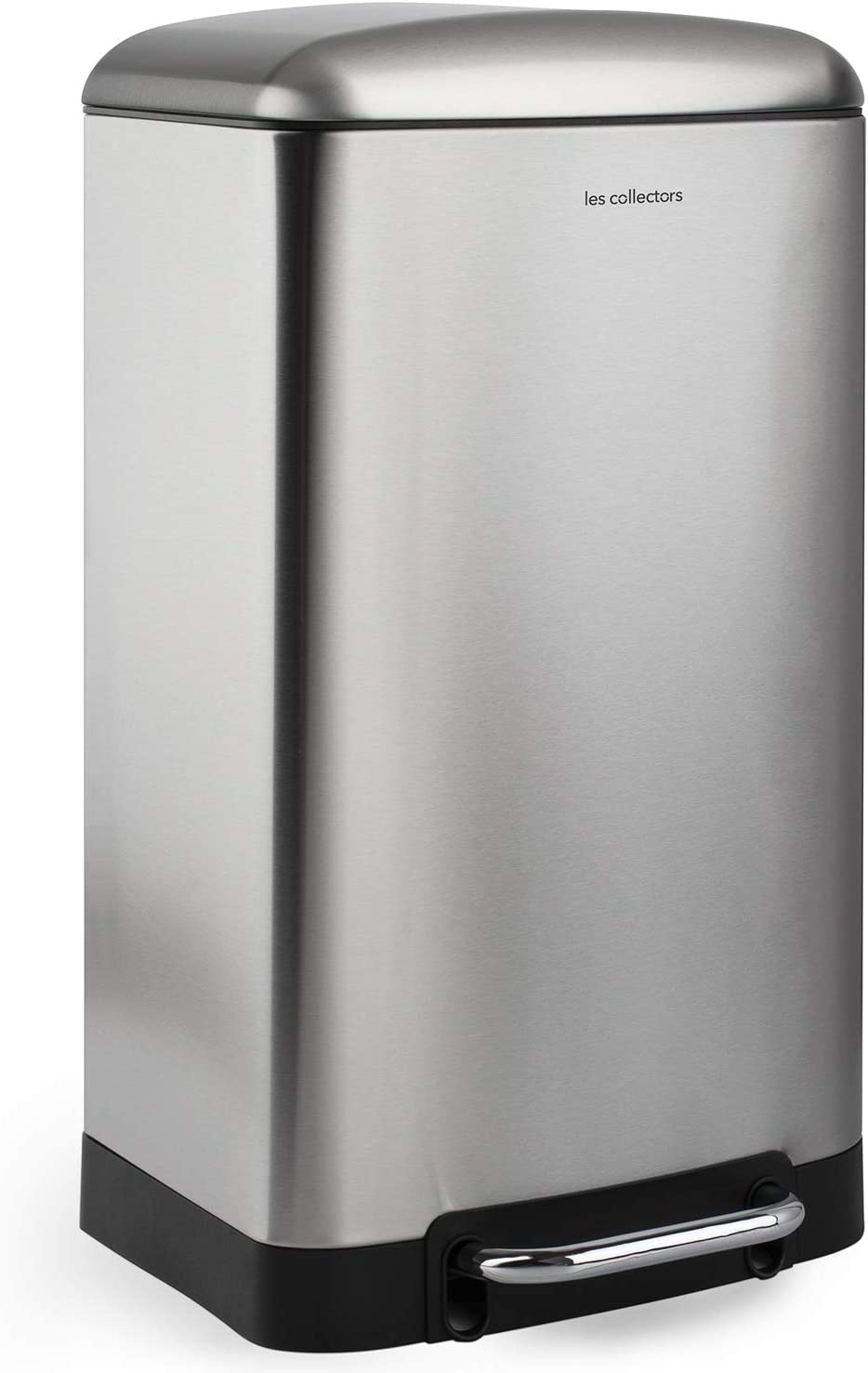 silver 40 L Large Capacity 40 L Metal Stainless Steel Les Collectors Kitchen Pedal Bin