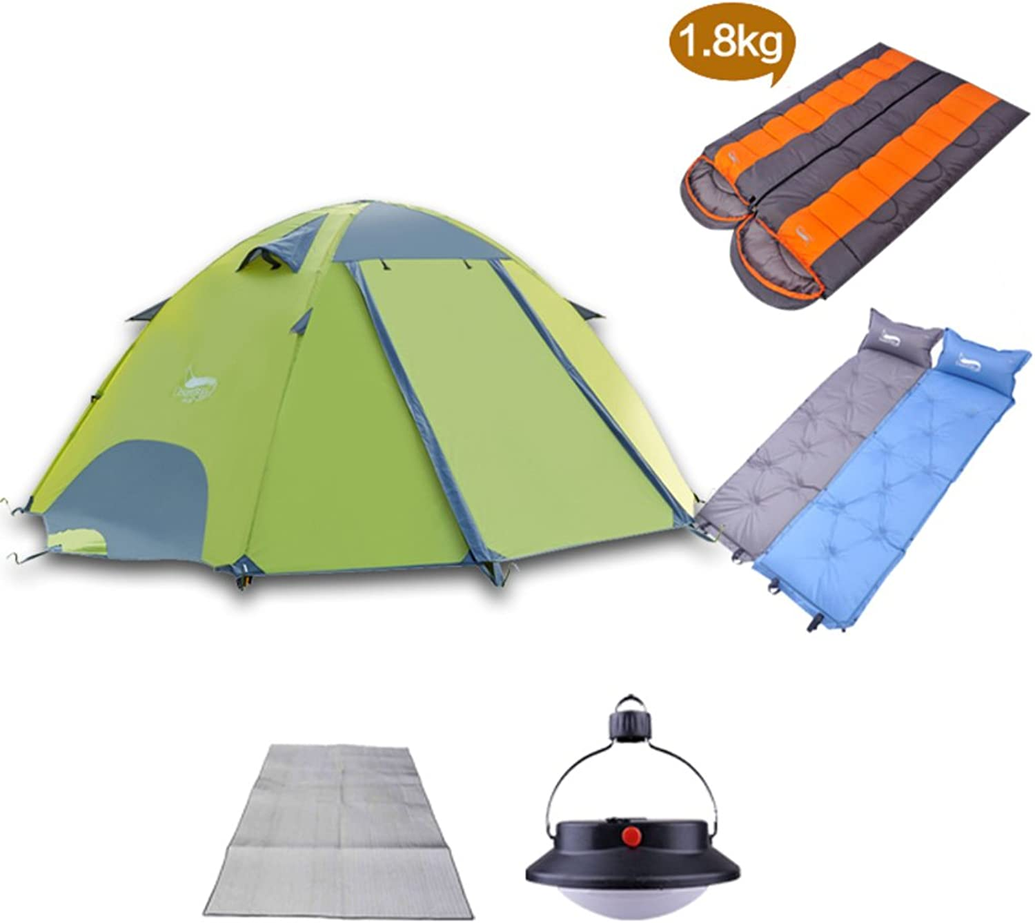 Outdoor tent Kit Double double aluminum pole wind and torrential rain tent