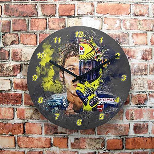GP-Clock - Valentino Rossi - face 2 face - 03   Wanduhr 29 cm