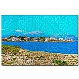 España Playa de Alcudia Mallorca Rompecabezas de 1000 Piezas para Adultos y familias, Regalo de Viaje de Madera, Recuerdo de 30 x 20 Pulgadas