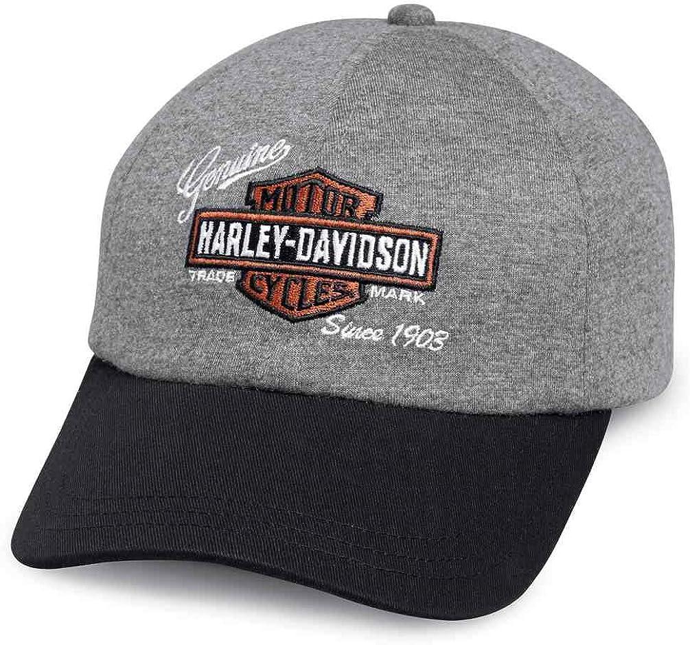 Harley-Davidson Women's Embroidered Logo Jersey Baseball Cap, Gray 99447-18VW