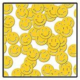 Beistle Fanci-Fetti Smile Faces Party Supplies, 1 oz, Yellow
