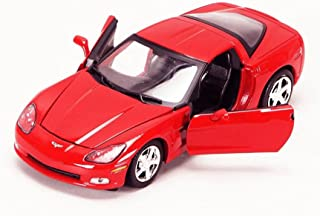 StarSun Depot 2005 Chevrolet Corvette C6 Coupe Red 1/24 Model Car by Motormax