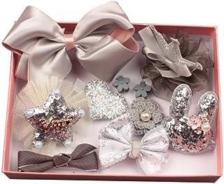 Bluelans® 10 Pcs Girl Bow Hairpin Ribbon Bow Flower Multi-