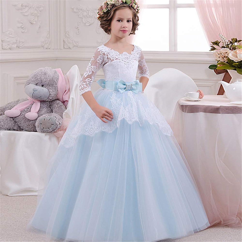 子供の女の子のドレス 女の子のレースの背中が大きく開いボールガウンシフォンフラワープリンセスページェントパーティードレス 女の子のパーティーウェディングブライドメイドの王女のドレス (サイズ : 2-3T)