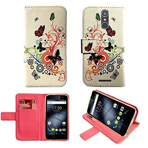starz mobiles accessoires Gigaset GS160 / GS170 - Hülle, Brieftasche Schutzhülle Case Hülle mit Kartenfächer (Butterfly)