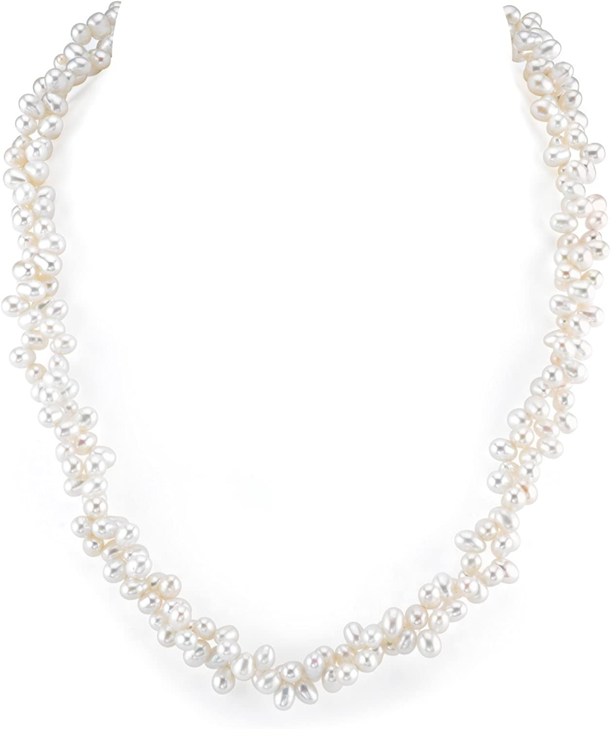 famous Phoenix Mall THE PEARL SOURCE 4-5mm Genuine Pearl N Cultured Freshwater White