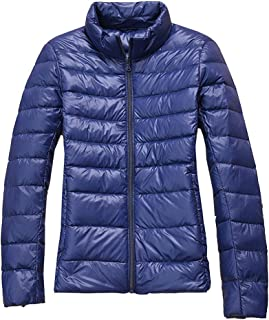 Womens Packable Ultra Short Fit Lightweight Down Jacket Outwear Slim Fit Casual Coats