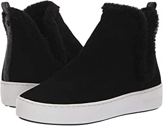 Womens Ashlyn Leather Hight Top Slip On, Black, Size 7.5
