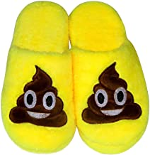 Bacio Luomo Scarpe inverno caldo Kid unisex Emoji sveglia molle del fumetto pantofole caldo accogliente farcito molle della peluche della famiglia coperta baboosh casa della famiglia donne