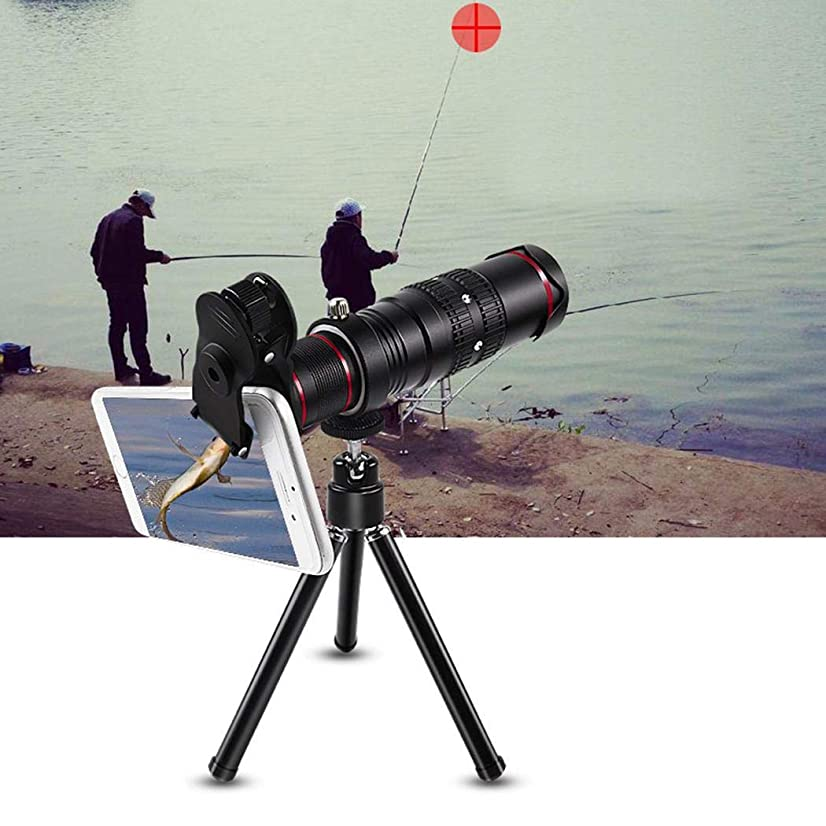 Labama Outdoor 22X Zoom Cell Phone Telescope Kit Telephoto Camera Lens with Tripod Lens Attachments