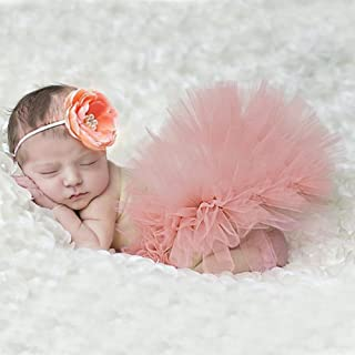 bcb6fcfd656f4 merssavo mignon nouveau-né bébé Tutu Jupe et fleur de bandeau photo Prop  Costume Outfit