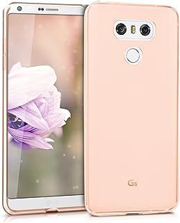kwmobile Funda para LG G6 - Carcasa Protectora de TPU para móvil - Cover Trasero en Oro Rosa