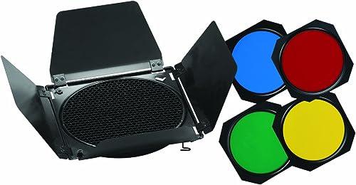 Metz BD-18 - Kit de Filtro para iluminación fotográfica (con Panal de Abeja y 4 filtros de Colores)