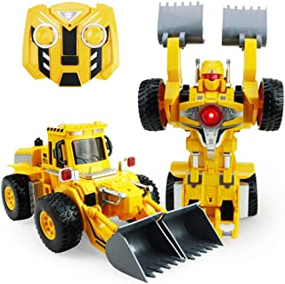 Boley The Breaker: Transforming Robot Bulldozer - Remote Control Car and Robot for Kids - RC Car Toy Truck with Battle Ready Dancing Talking Robot! Stunt Vehicle Robot Toy for Boys and Girls