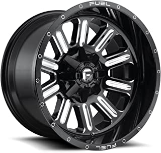 FUEL Hardline NBL-Gloss BLK MIL Wheel with Painted (20 x 10. inches /8 x 170 mm, -18 mm Offset)