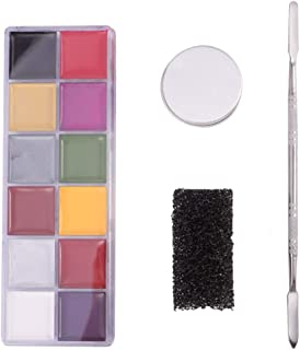 Beaupretty Halloween make-up set gezicht lichaam schilderen effecten huid wax olie schilderen en spatel gereedschap voor f...