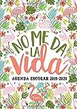 No me da la vida: Agenda escolar 2019-2020: Del 1 de septiembre de 2019 al 31 de agosto de 2020: Diario, organizador y planificador con semana vista español: Flamencos rosas y flores tropicales 9267