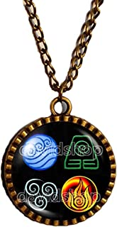 Fashion Jewelry Water Tribe Earth Kingdom Air Nomads Symbol Art Avatar the last Airbender Necklace Legend of Korra Pendant Cosplay Charm Gift