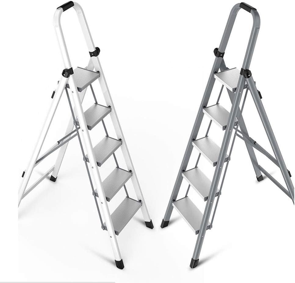 Max 74% OFF XIAOQIU Stepladder Fashionable Aluminum Alloy Household Ladder Herri Folding