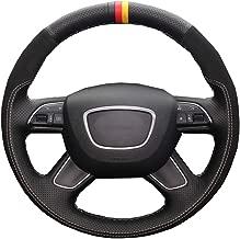 YYFTT For Diy Car Steering Wheel Cover Volant Funda Volante For Audi A4 (B8) A6 (C7) A7 A8 A8 L Allroad Q3 Q5 2013 2017 Q7 2012 2015