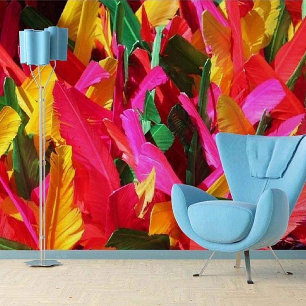 3D Custom Silk Wallpaper Modern San Francisco Mall Pa Feather Colorful Abstract Max 79% OFF Art