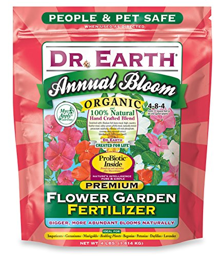 Dr. Earth 705P Organic 6 Flower Garden Fertilizer in Poly Bag, 4-Pound