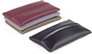 「Thing.Is」PU Leather Pocket Tissue Holder for Purse, Travel Tissue Holder, Portable Tissue Case, Tissue Pouch, Black/Light Grey/Wine Red/Brown