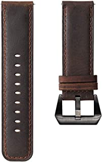 Gamemyse 18mm 20mm 22mm 24mm Thick Genuine Leather Watch Band Traditional Watch Sports Watch Strap Stainless Steel Buckle for Women Men Grils Boys