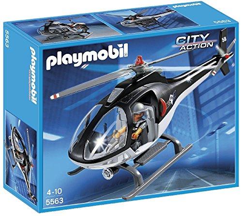 PLAYMOBIL Policía - Helicóptero Unidad Especial, playset (5563)